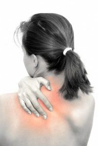 Woman Holding her Neck