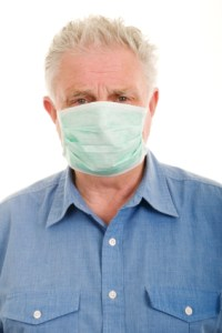 Surgical Mask Protecting Man's Lungs