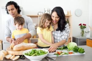 Family Preparing Meal