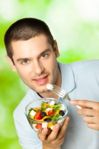 Man with Healthy Salad