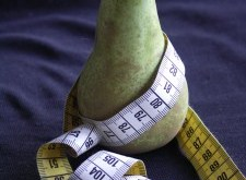 Measuring Tape Wrapped on Pear