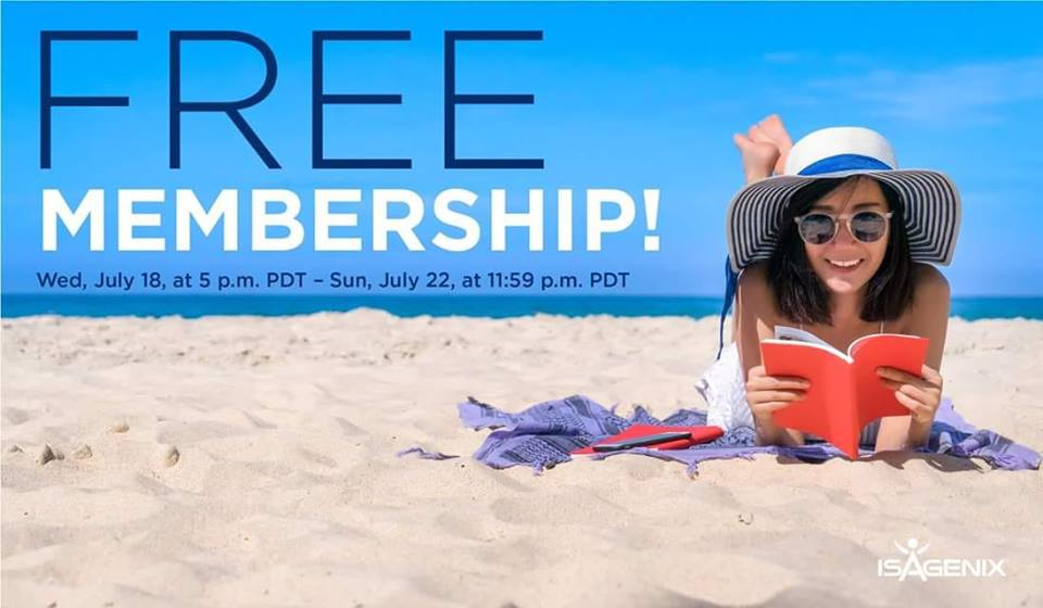 Isagenix – Free Membership from July 18 (5pm PST) to July 22 at Midnight!