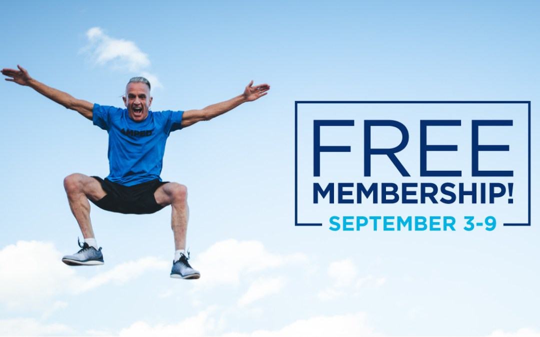 Summer's over – Now is the perfect time to get back into shape with FREE MEMBERSHIP September 3 to 9!