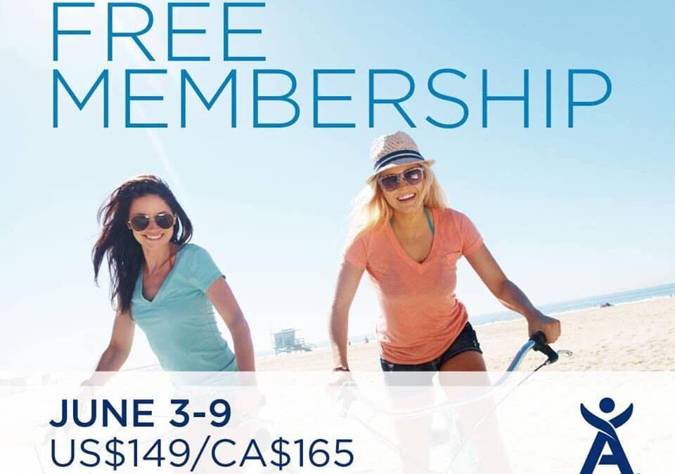Free Membership June 3 to 9 2019, plus free Shipping for new members this summer!