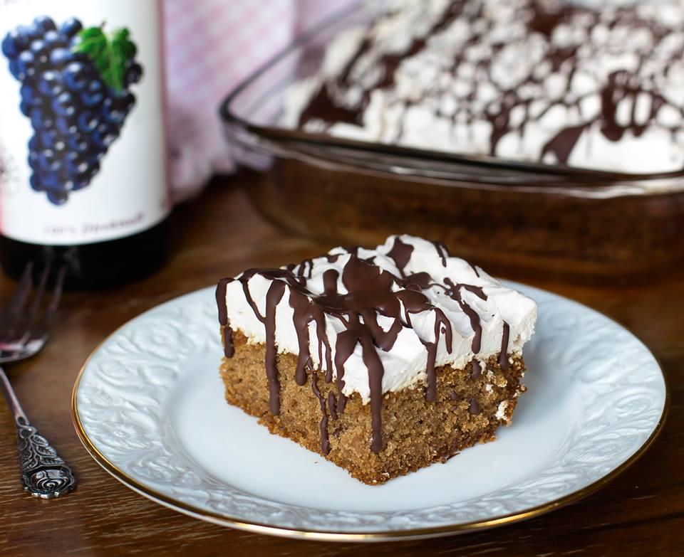 Rotwein Kuchen mit Sahne   Healthy On Green