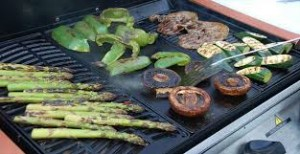 Health and Wellbeing - Vegetables on the barbie