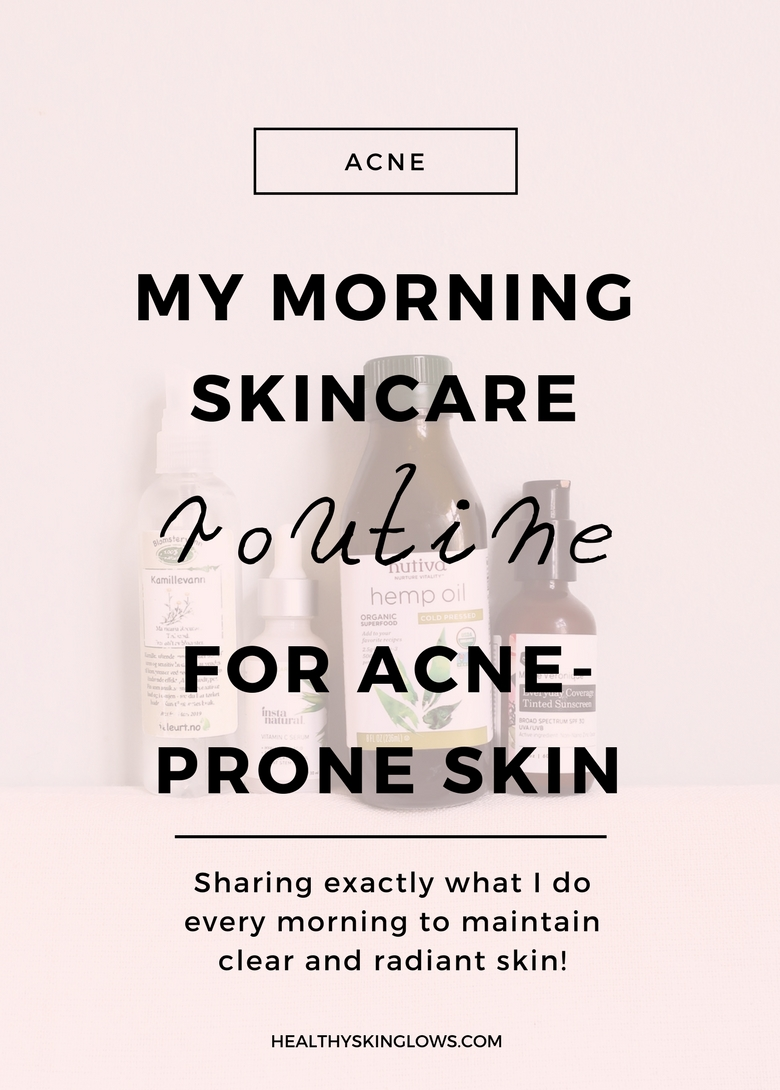 morning skincare routine for acne