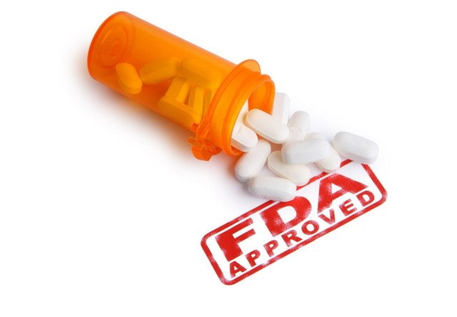 image of fda approved stamp with anti aging pills