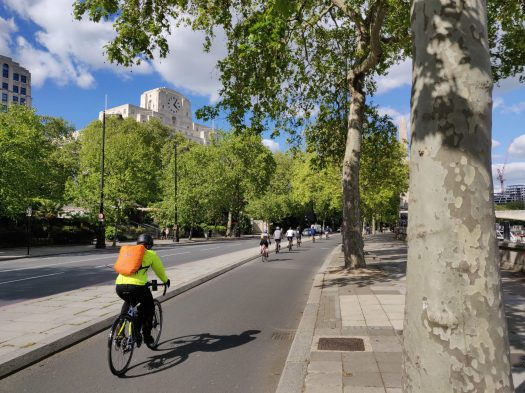 Embankment cycle track