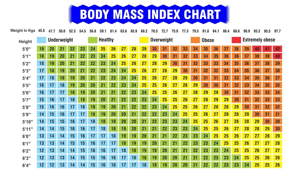 BMI Chart | Indian Weight Loss Tips Blog - Seema Joshi