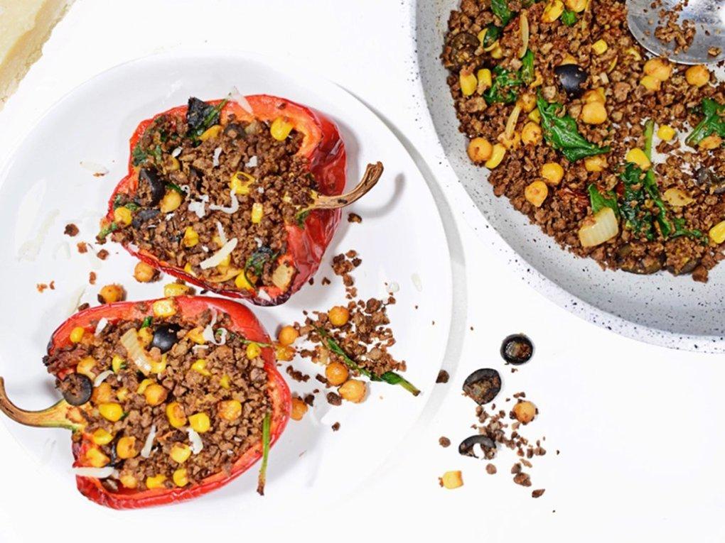 Gevulde paprika's | Vegetarisch recept | Healthy Wanderlust