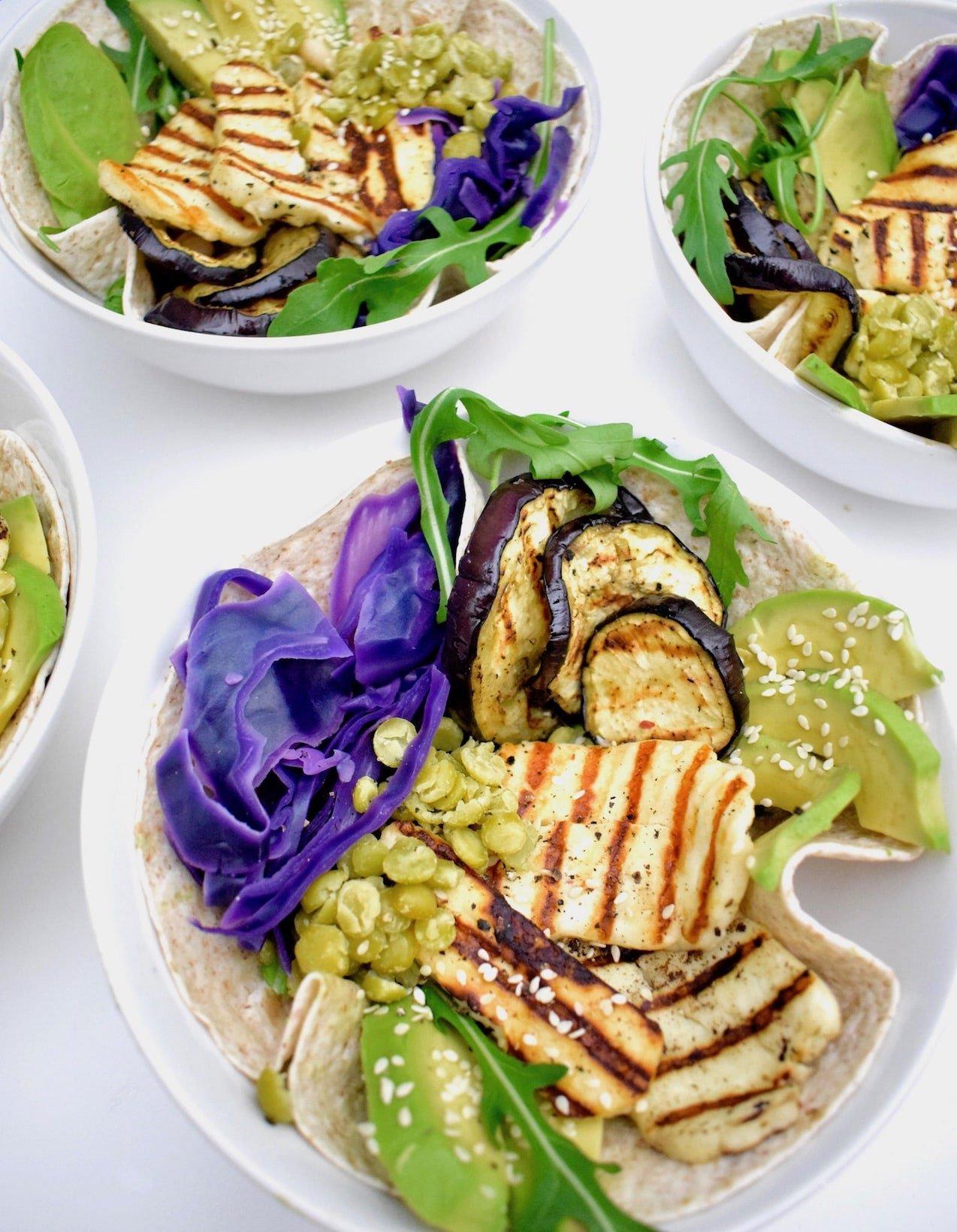 Halloumi wraps | Vegetarisch recept | Healthy Wanderlust
