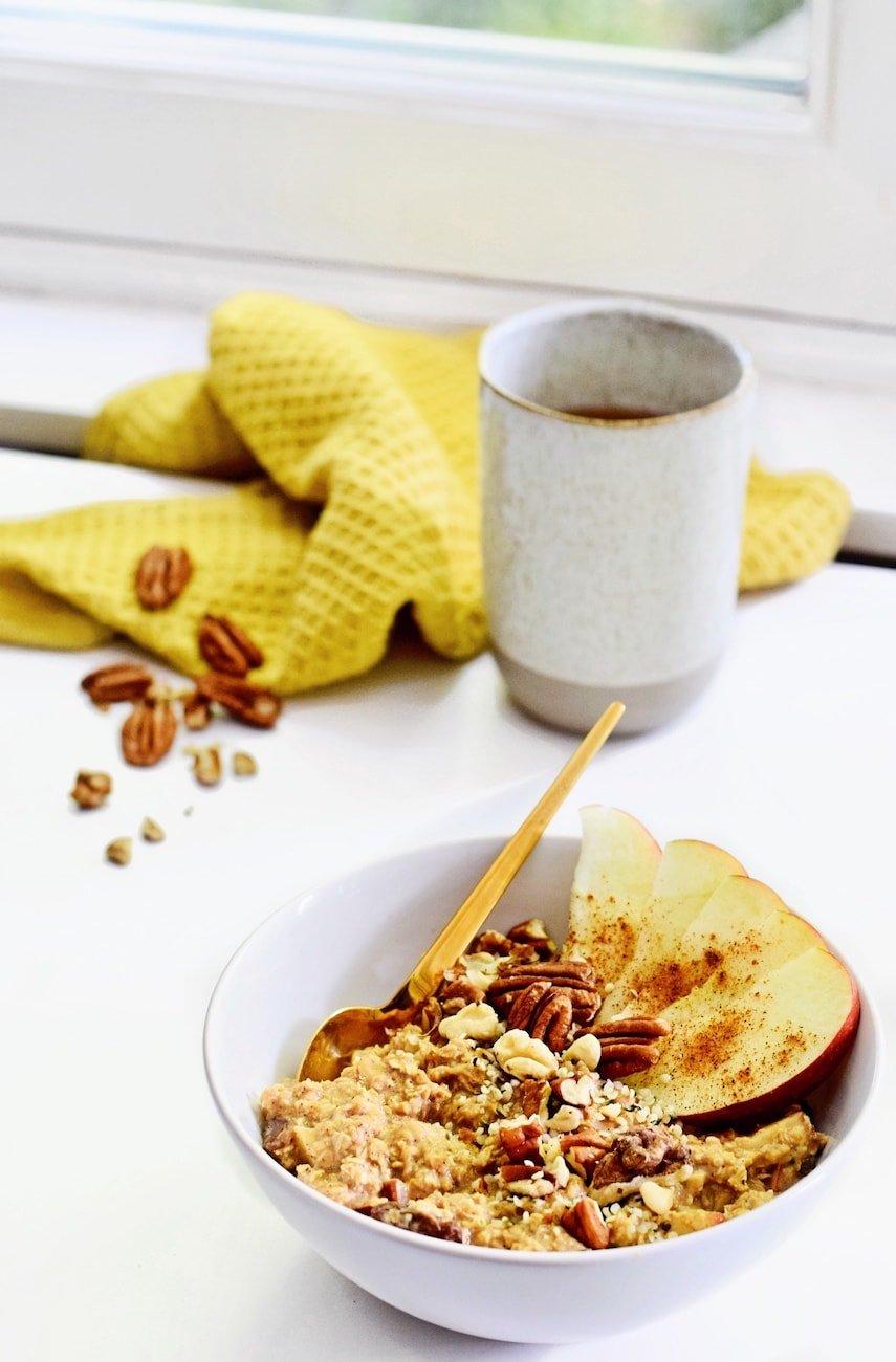 Koffie havermout | Lekker ontbijt recept | Healthy Wanderlust