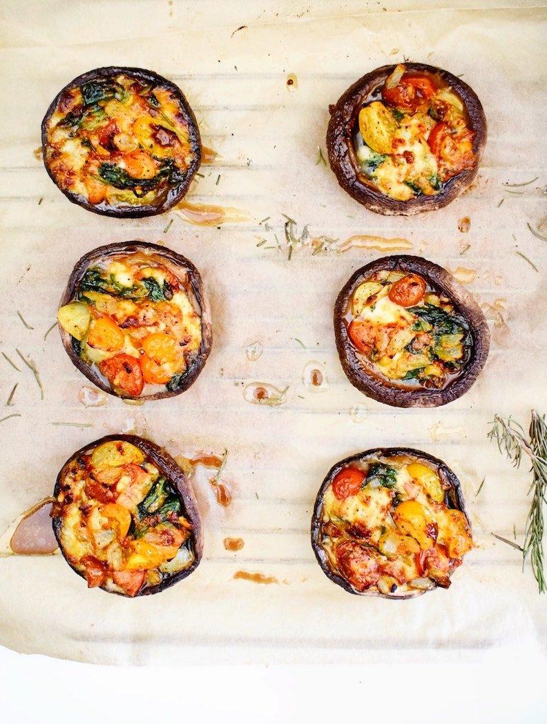 Gevulde portobello's | Vegetarisch recept | Healthy Wanderlust