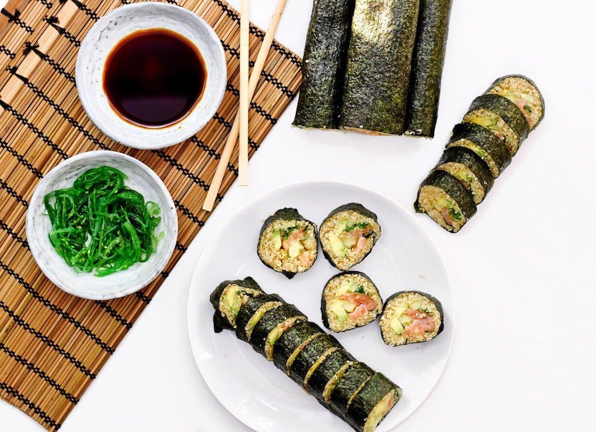 Quinoa sushi rolls | Sushi recept | Healthy Wanderlust