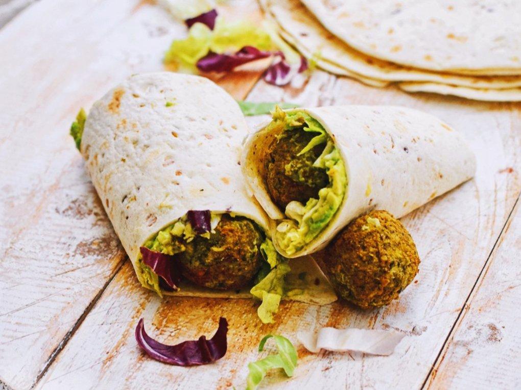 Makkelijke falafel wraps | Eet gezond | Healthy Wanderlust