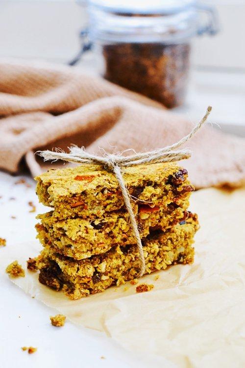 Granola bars met pindakaas en pompoen | Gezonde snack