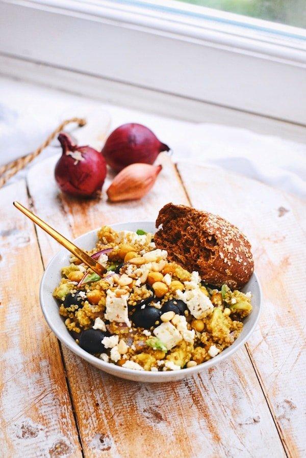 Healthy salad | Greek quinoa salad