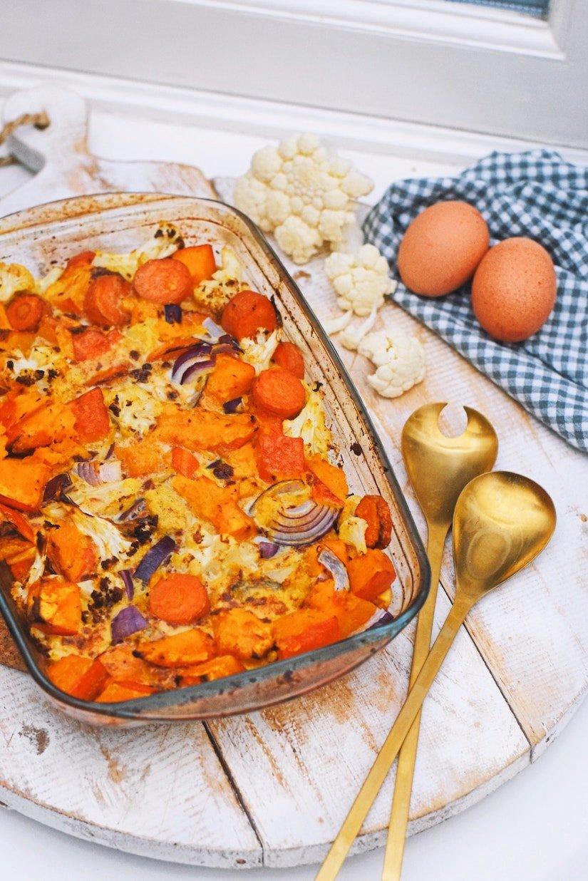 Frittata met herfstgroente | Gezond frittata recept van Healthy Wanderlust
