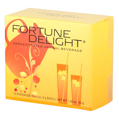 Sunrider® Fortune Delight Lemon 10/3 g Packs (0.10 oz./3 g each bag)