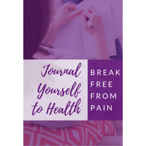 journaling help reduce pain and removes obstacles to healing