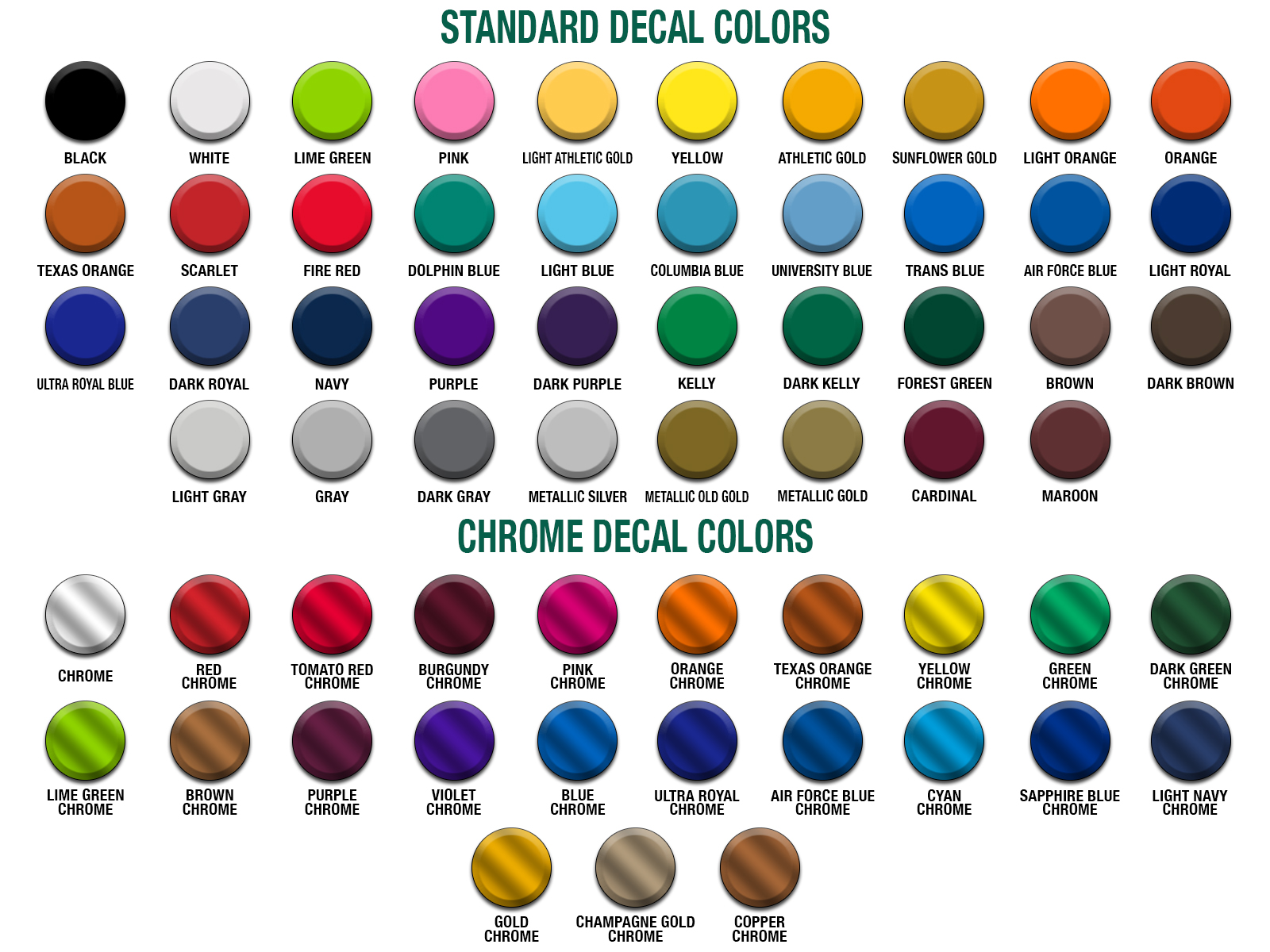 decal color chart healy