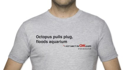 Octopus floods aquarium headline from CNN