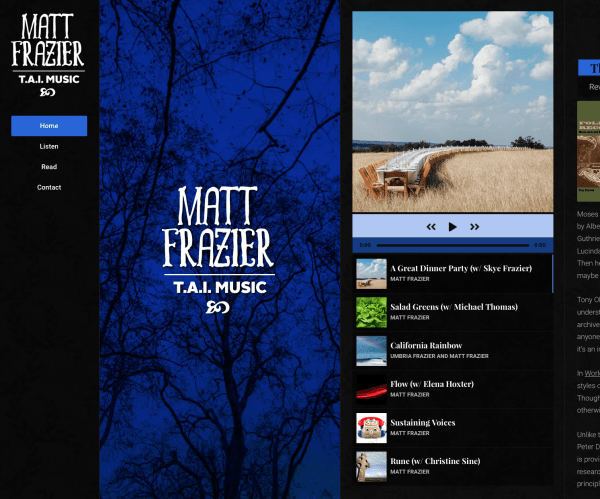 Matt Frazier/TAIMusic website homepage