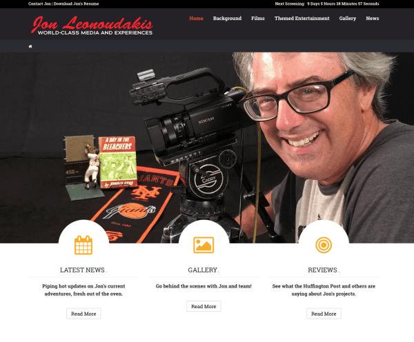 Jon Leonoudakis website homepage