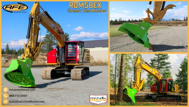 Advanced Forest Equipment RDM58EX and Heavy Equipment Armor Guarding on Caterpillar 323 NG