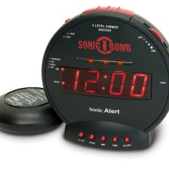 Kitchen Timer For Hearing Impaired Cabinet Hardware Drawer Slides Sonic Bomb Alarm Clock And Bed Shaker Clocks