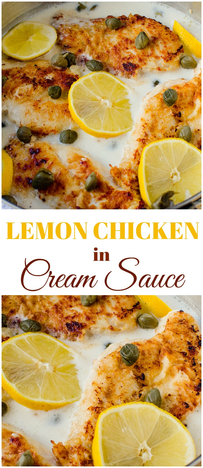 Lemon Chicken Breast in Cream Sauce is an easy and delicious meal time favorite anyone can throw together! A perfect easy weeknight meal!