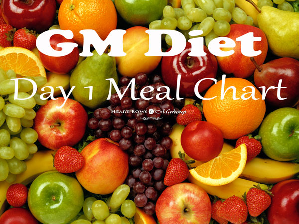 GM Diet Plan Vegetarian Diet Chart: My Daily Meal Plan & Experience! - Heart Bows & Makeup