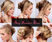 easy bun hairstyle tutorials
