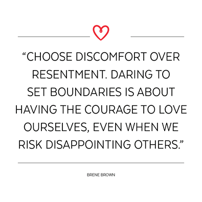 Image result for choose discomfort over resentment. daring to set boundaries