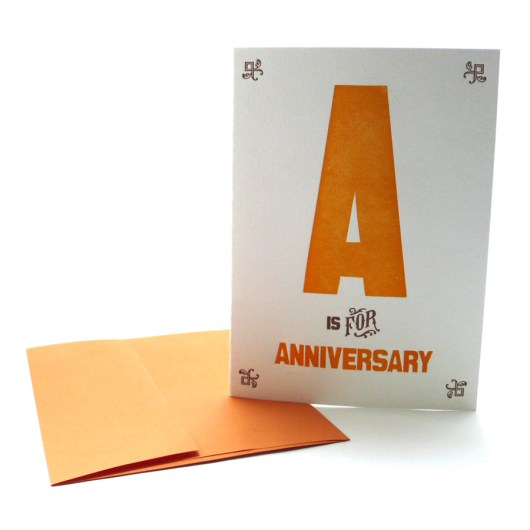 A is for Anniversary