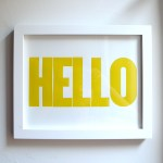 HELLO Print Yellow