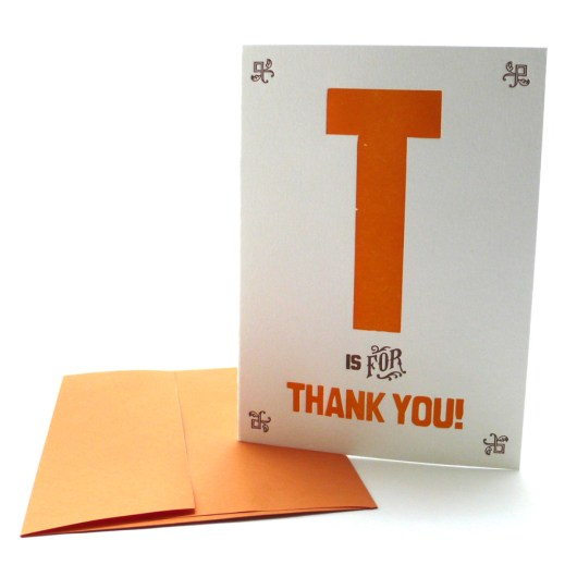 T is for Thank You!