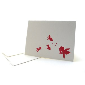 Pattern Note Cards – Red Goldfish
