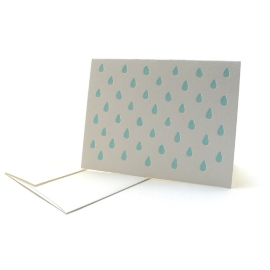 Pattern Note Cards – Blue Drops