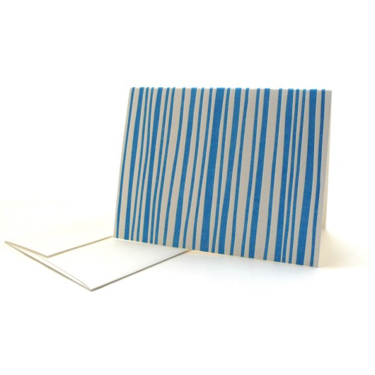 Pattern Note Cards – Blue Stripes