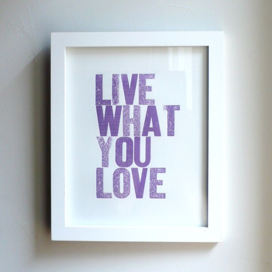Live What You Love 8x10 Grape