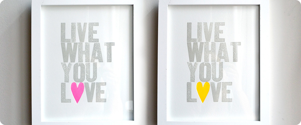 Live What You Love Special Edition Neon Hearts