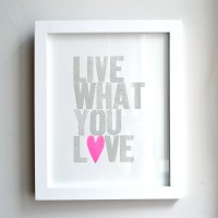 Live What You Love Neon Pink Heart