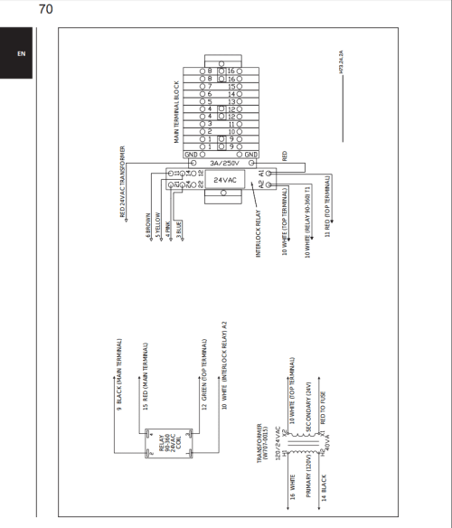 small resolution of edit so the room thermostat and damper motor are in series and attach to wires 10 and 11 on the top terminal