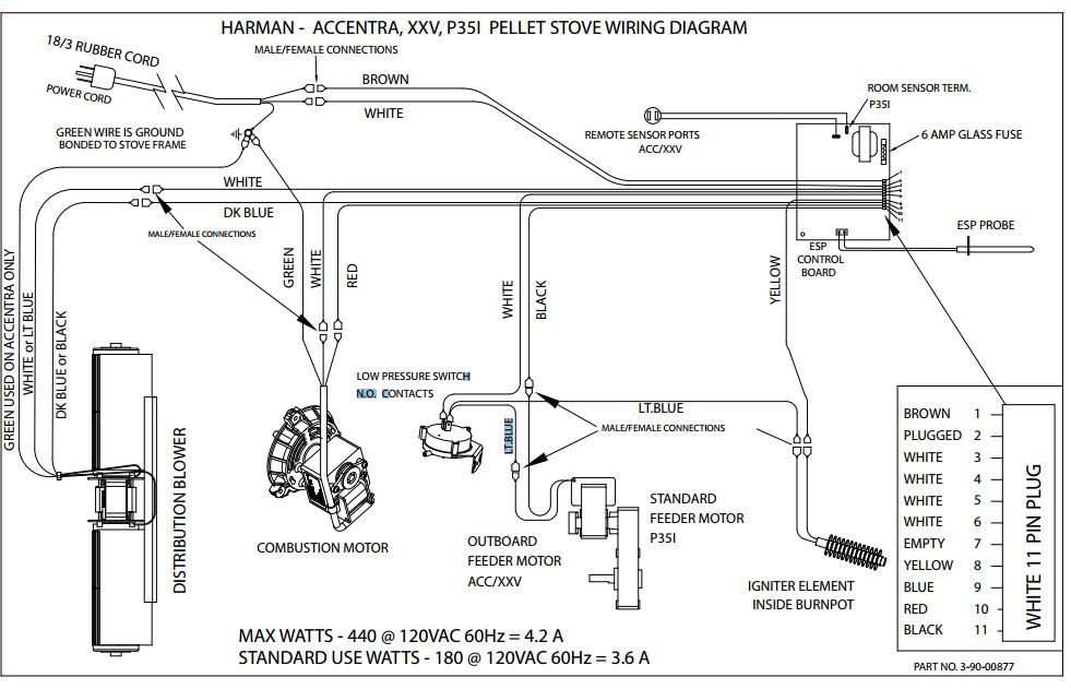 wiring diagram for a stove