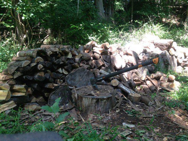 my zero tool built firewood rack