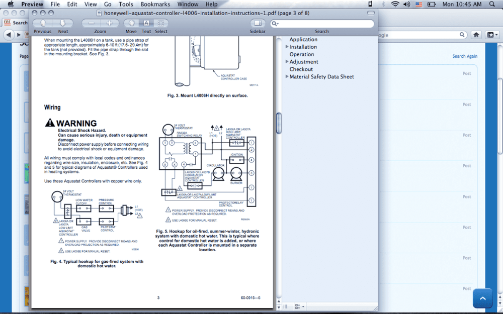 medium resolution of  diagrams honeywell l4006a aqua stat wiring h com forums home on triple acting aquastat wiring