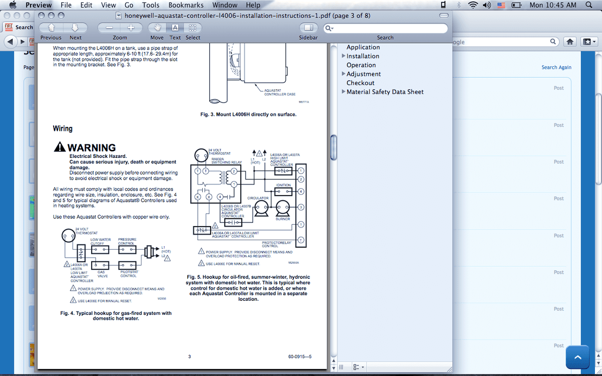 hight resolution of  diagrams honeywell l4006a aqua stat wiring h com forums home on triple acting aquastat wiring