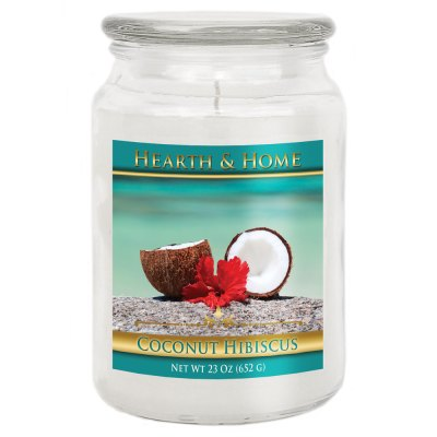 Coconut Hibiscus - Large Jar Candle